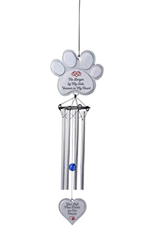 EXPAWLORER Pet Memorial Wind Chime Gifts Pawprint Dog Remembrance Wind Chime
