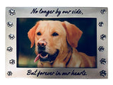 Pet Memorial Picture Frame Gift Set Keepsake for Dog or Cat, Perfect Loss of Pet Gift