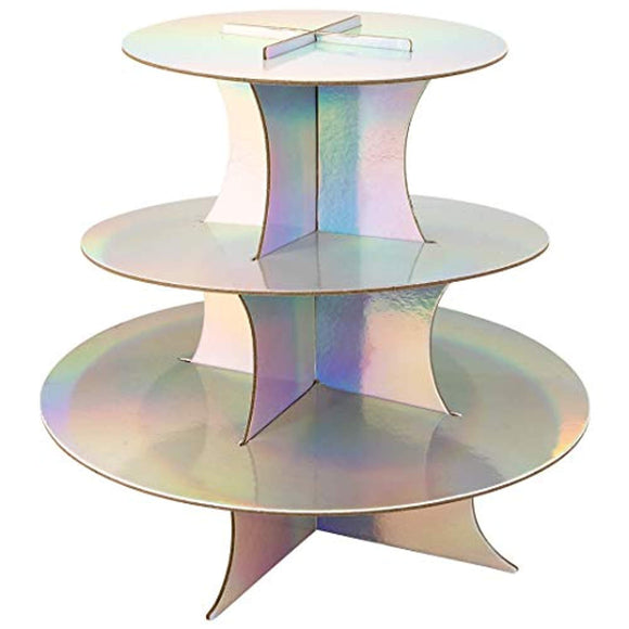 Andaz Press Iridescent 3 Tier Cupcake Stand