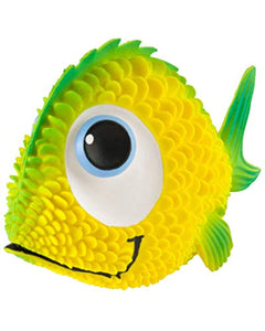 Sensory Fish Squeaky Dog Toy Natural Rubber