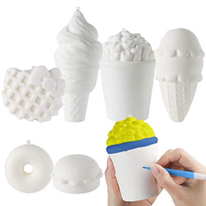 MALLMALL6 6Pcs DIY Slow Rising Jumbo Food Squishy Set