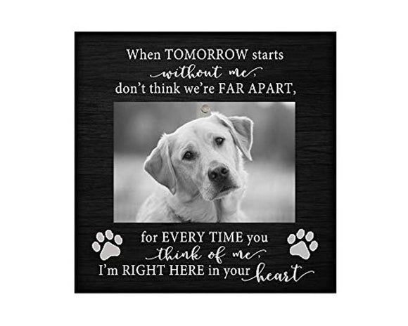Pet memorial desktop photo plaque (no glass) 8.5x8.5 inch dog picture