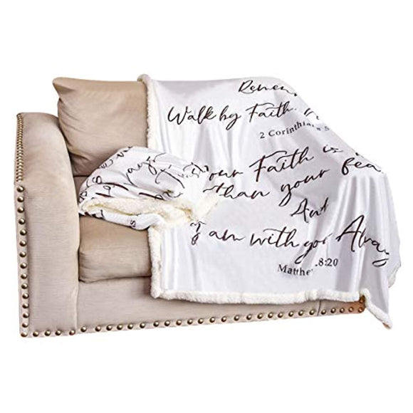 Double Creek Multi Scripture Throw Blanket Ultra Soft
