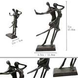 Bitopbi Romantic Couple Dancing Iron Sculpture