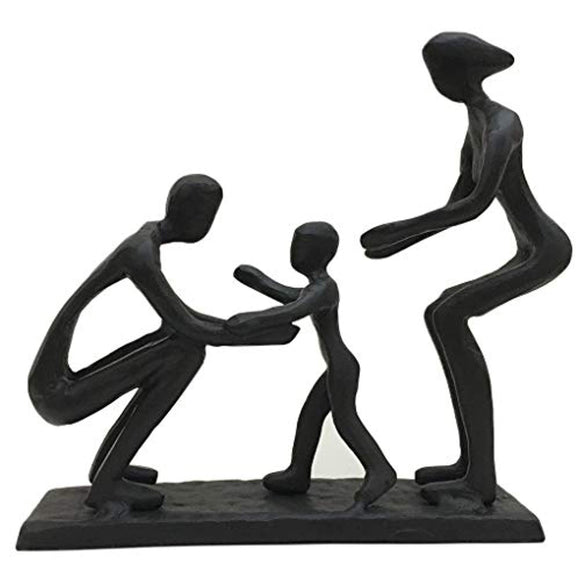 Bitopbi Romantic Family Together Cast Iron Sculpture Anniversary Wedding Engagement