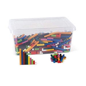 hand2mind Plastic Cuisenaire Rods Bulk Classroom Set with Storage Tote