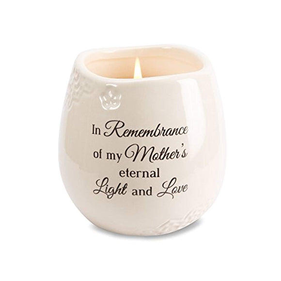 Pavilion Gift Company 19179 in Memory of Mother Ceramic Soy Wax Candle