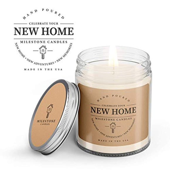 Milestone Candles New Home Clear Jar Soy Blend Candle