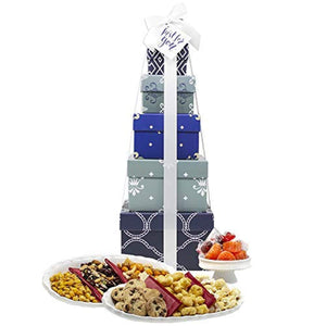"Gift Basket for Him - Box Tower 16"" - 6 Tier"