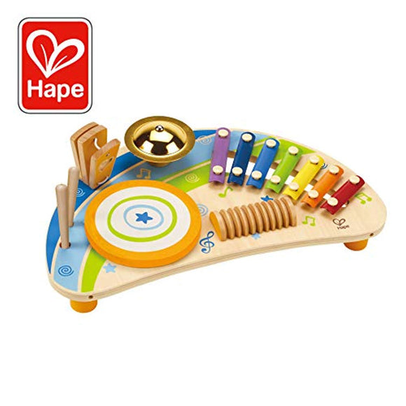 Award Winning Hape Mighty Mini Band Wooden Percussion Instrument