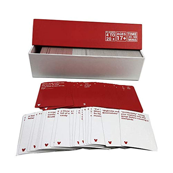 Cards Games of Dizny Red Box Edition Contains 828 Cards 260 Black Cards, 568 White Cards