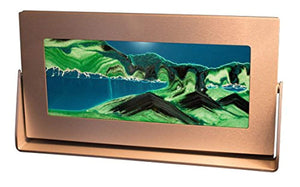 Exotic Sands Moving Sand Pictures - Md62 Medium Silver Frame (Summer Turquoise)