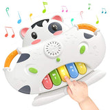 TUMAMA 2-in-1 Piano Musical Toys & Shape Sorter Blocks Toys, Baby Early Educational Development Learning Toys