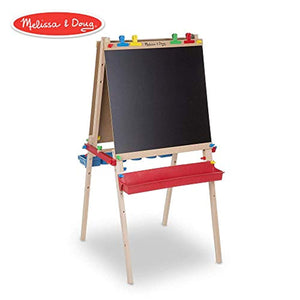 Melissa & Doug Deluxe Wooden Standing Art Easel, Arts & Crafts, Easy to Assemble
