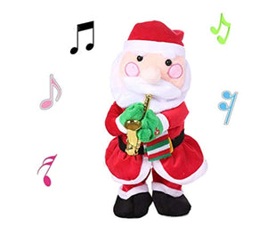 ALIMITOPIA Christmas Saxophone Electric Toy,Xmas Dancing and Musical Doll Electric Toy Novel Gift(Santa)