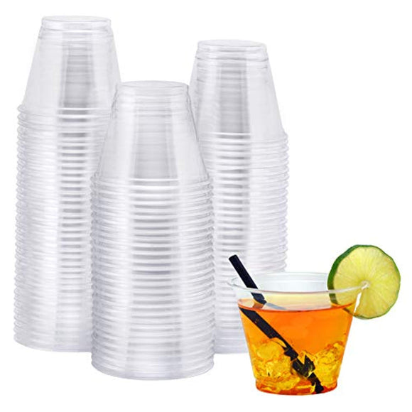NYHI 100-Pack 9 oz Clear Plastic Cups