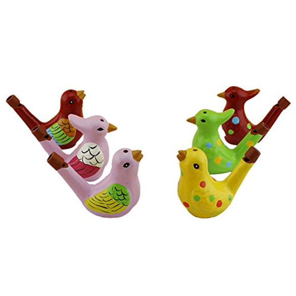 Terra Cotta Bird Water Whistles Warbler Song Ceramic Chirps Baby Bathtime Fantasy Gifts
