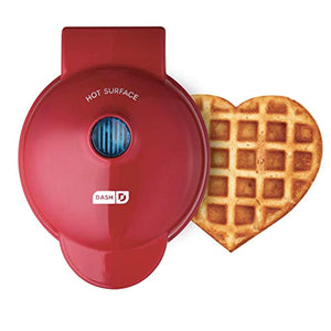 Mini Maker Machine for for Heart Shaped Individual Waffles, Paninis, Hash browns, other on the & other on the go Breakfast, Lunch
