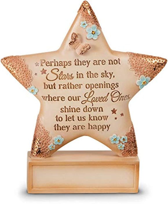Pavilion Gift Company 19055 Light Your Way Memorial Stars in The Sky Plaque, 4-1/2-Inch