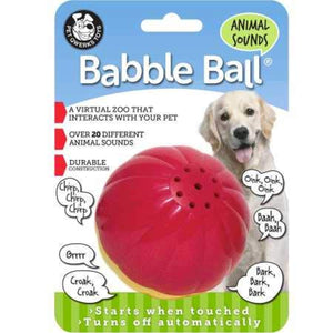 Pet Qwerks Animal Sounds Babble Ball Interactive Dog Toy
