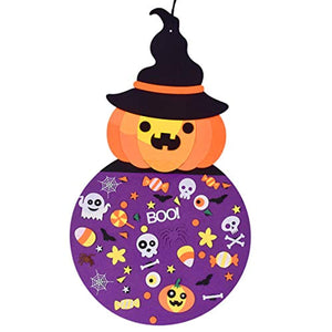 Max Fun 2.8 Ft DIY Witch Felt Crafts Ornaments with Hanging Craft Kits for Kids Halloween Birthday Party Favor