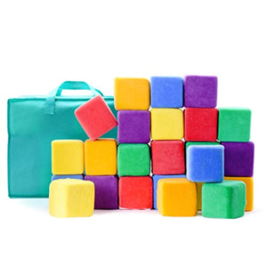 Milliard Soft Foam Blocks, Jumbo Size, for Stacking Sorting and Building