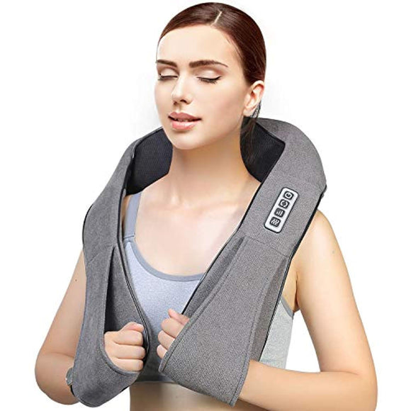 Shiatsu Back Neck Massager with Heat Deep Tissue 3D Kneading Massage Pillow for Neck, Back, Shoulders, Foot, Legs