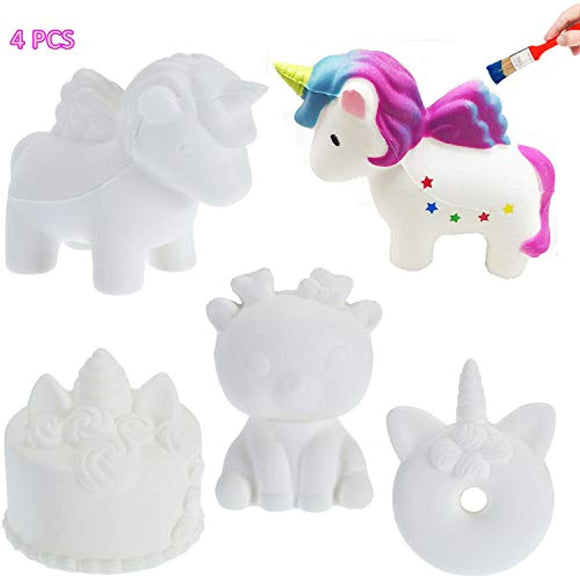 CAMTOP DIY Squishies Slow Rising Squishy Toys White Plain Jumbo Animal Party Favors Soft Stress Relief Toys