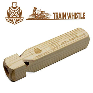 C&KToy Wooden Train Whistle 4 Tone for Kids/Adults Toddlers Educational Party