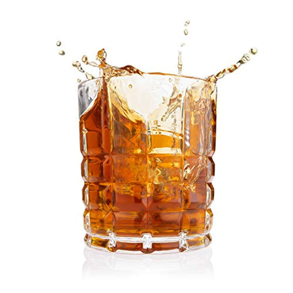 Stud Whiskey Glass, Set of 4 - Classic Majestic Old Fashioned glasses Scotch Glasses