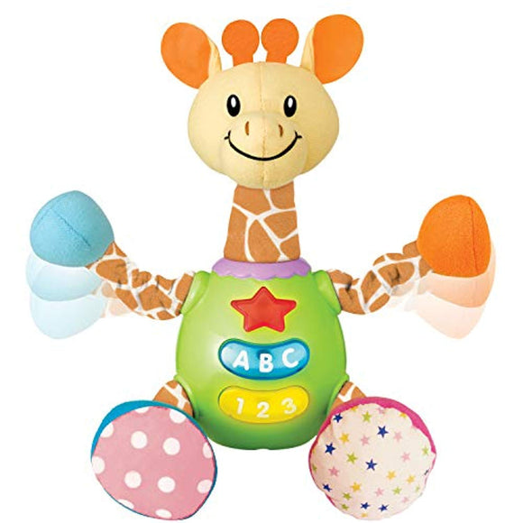 Charmie The Giraffe. Baby Learning Stuffed Giraffe Toy with Plush Snuggle Body.