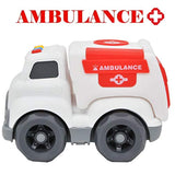Ambulance Toy with Light & Siren Sound Effects,Educational Toy Vehicle