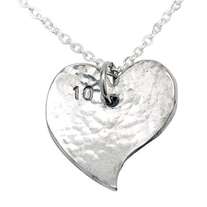 Pirantin 10th Year Anniversary Heart Necklace - Traditional Tin 10th