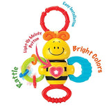 KiddoLab Twist, Rattle & Shake Musical Bee Light-Up Toy and Teething Ring for Toddlers 3 Months