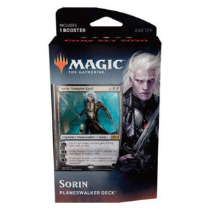 Magic The Gathering: MTG: Core Set 2020 Planeswalker Deck - Sorin w/Booster Pack (Black)