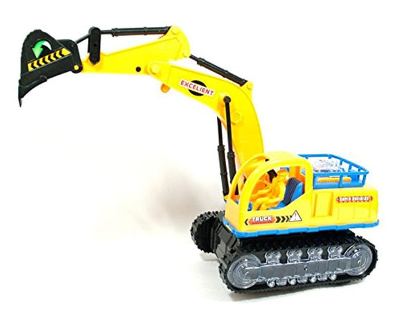 LilPals Motorized Toy Excavator– Children's Toy Includes Lights And Sounds
