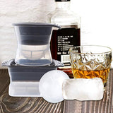 Zeattain Leak-Free Sphere Ice Molds with Tight Silicone Seal for Bourbon, Whiskey, Scotch