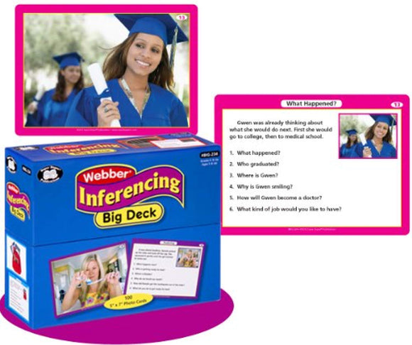 Super Duper Publications Inferencing Big Deck Photo Flash Cards