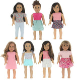 PZAS Toys 7 Outfit Set, 18 Inch Doll Clothes, Compatible with All 18 Inch Doll Clothes