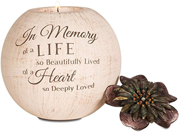 Light Your Way Terra Cotta Candle Holder, in Memory, 5-Inch