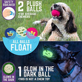 Chew King Fetch Balls Extremely Durable Natural Dog Toy Ball Launcher