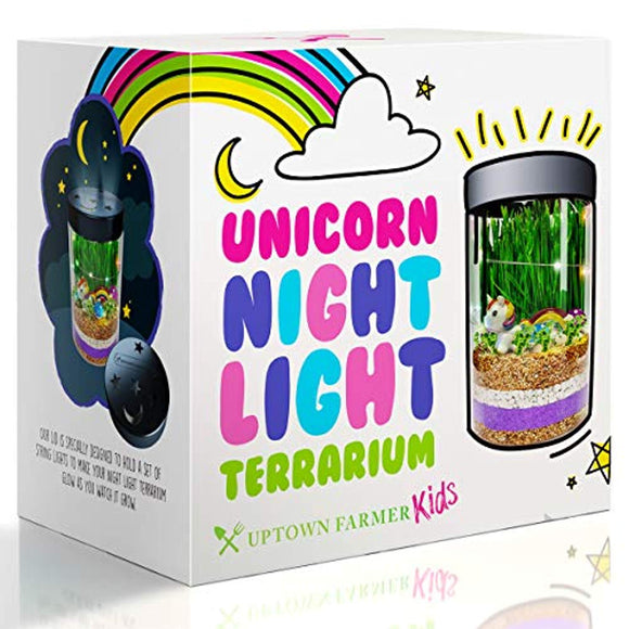 Unicorn Terrarium Kit for Kids – Girls or Boys Science Kits Stem Toys with Night Light