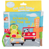 DEMDACO Smiling Friends On The Go Stoplight City Hues Children's Musical Soft Book Toy
