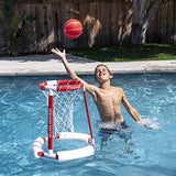 GoSports Splash Hoop 360 Floating Pool Basketball Game | Includes Water Basketball Hoop, 2 Balls and Pump