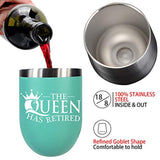 Retirement Gifts For Women Stainless Steel Tumbler Wine Glass For Her