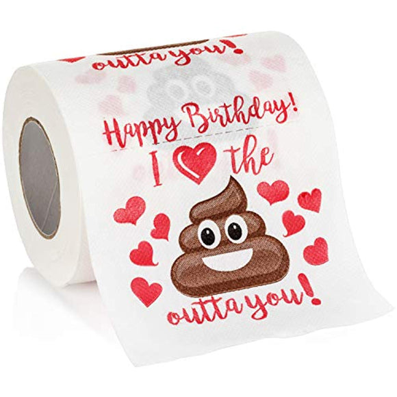 Maad Romantic Happy Birthday Novelty Toilet Paper