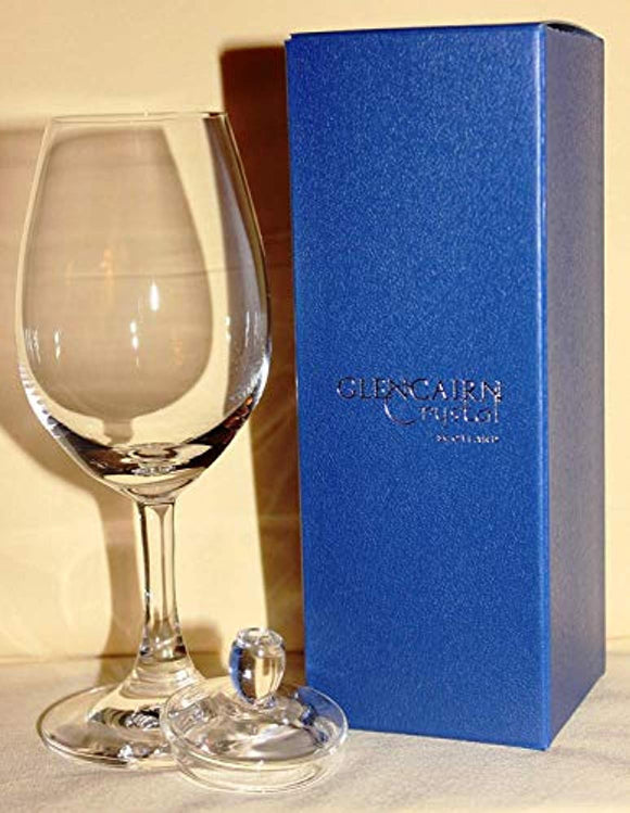 OFFICIAL SCOTCH WHISKY GLENCAIRN COPITA NOSING GLASS WITH GINGER JAR TOP