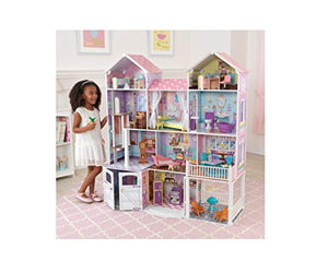 "KidKraft Country Estate Wooden Dollhouse for 12"" Dolls with 31Piece Accessories"