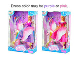 Bettina Princess Doll and Unicorn, Sparkle Unicorn Toys 'n Fashion Doll Set, Unicorn Doll for Girls, Pink
