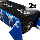 Blue Orchards Karate Party Tablecovers (2), Karate Party Supplies